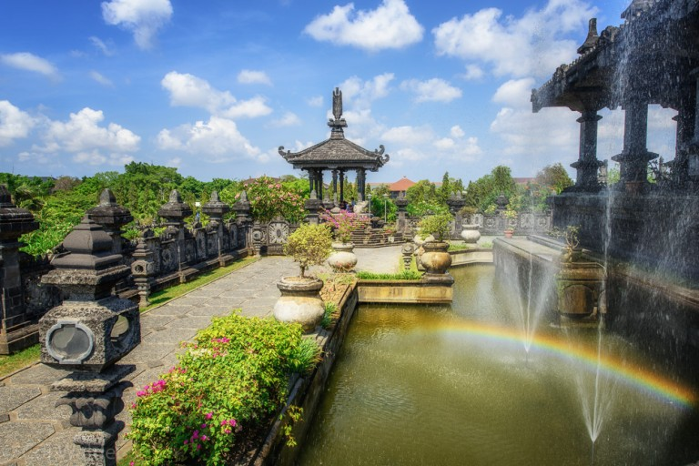 Rainbow Temple Pond