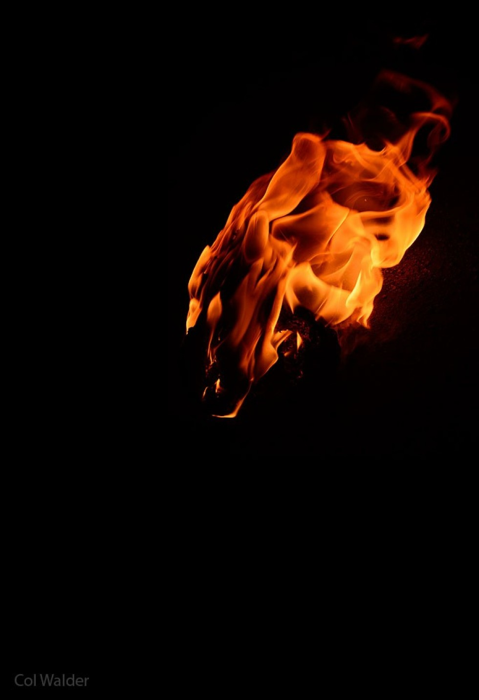 A Face in the Flame
